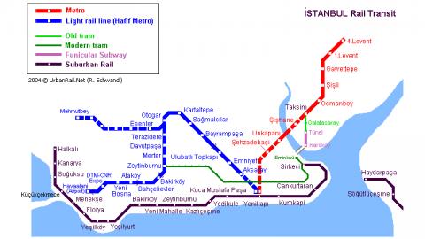 Карта метро Стамбула от Софи